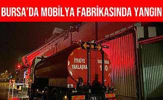 Bursa İnegöl'de Mobilya Fabrikasında Yangın Çıktı