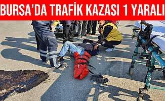 Bursa İnegöl'de Otomobil İle Çarpışan Motosikletin Sürücüsü Yaralandı