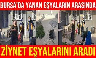 Bursa İnegöl'de Yanan Eşyaların Arasında Ziynet Eşyalarını Aradı