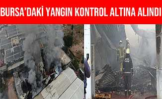 Bursa Kestel'de Elyaf Fabrikasındaki Yangın Kontrol Altına Alındı