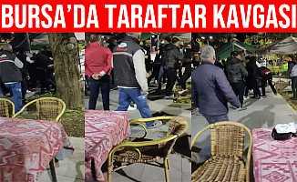 Bursa'da Maç İzleyen Taraftarlar Kavga Etti