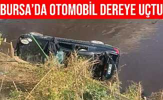 Bursa Osmangazi'de Otomobil Dereye Uçtu