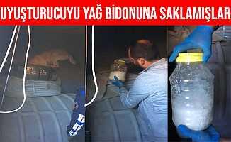 Kayseri'de Yağ Bidonunun İçinden 1.5 Kilogram Uyuşturucu Çıktı