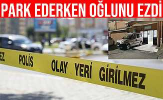 Zonguldak'ta Aracını Park Etmek İsteyen Baba Oğlunu Ezdi