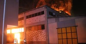 Samsun'da fabrika yangını
