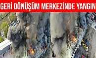 İstanbul Avcılar'da Bir Geri Dönüşüm Merkezinde Yangın Çıktı