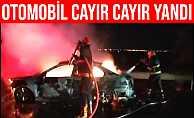 Şanlıurfa#39;da Seyir Halindeki Otomobil Alev Alev Yandı